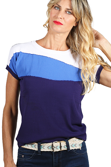 TIENDAS BELGRANO - Remera Waves Deep Blue